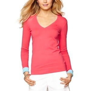 Lilly Pulitzer Sz M Adelaide V-Neck Sweater EUC